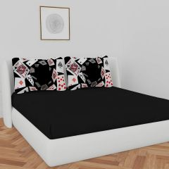 Fabric Empire Cotton Bedding Set with 1 Double Bedsheet and 2 Pillow Covers