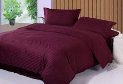 FABRIC EMPIRE 300 TC Superior 100% Cotton Solid Satin Plain Double Queen Bedsheet With 2 Pillow Covers (Size: 90X100 Inch)