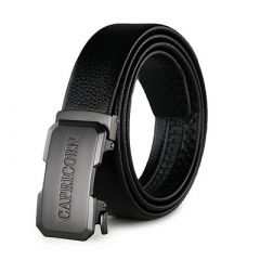 CAPRICORN Stylish and Slim Fit Formal and Casual Synthetic Leather Belt For Men's (Black) (Pack of 1)