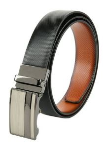 Elite Reversible Solid Synthetic Leather Belt For Men's (Multi-Color) (Pack of 1)