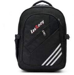 LeeRooy School Bag Backpack For Unisex School Bag (Black, 26 L) (MN-Canvas 30 Ltr Black)