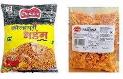 Chakote Kolhapuri Bhadang & Kolhapuri Famous Chakote Premium Farsana Ghati Mix | Vegetarian (Combo Pack)