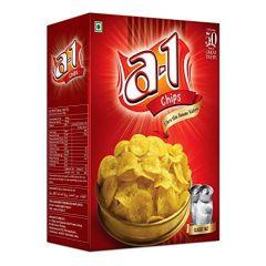 A1 Chips Mc (Classic Salt) Banana Chips Ultra Thin Wafers (Pack of 4) (185x4= 740 Gram)