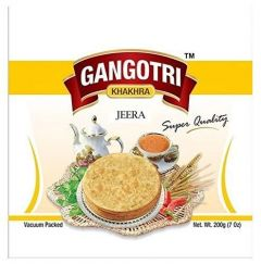 Bhavani Foods Vegetarian Premium Gangotri Khakhra Jeera Best For Breakfast, Tea Time (Pack of 4)