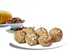 Bhavani Food Amingad Famous Vijaya Premium Peanut & Jaggery Ladoo Dasara & Deepavali (Buy 1 Get 1 Free) (Each Pack 250 Grams)