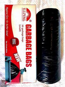Bhavani Foods UJJVAL Biodegradable Garbage Bags Disposable Garbage Bags For Dry and Wet Waste (Black) (Buy 4 Packs & Get 1 Pack Free)