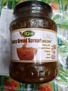 Ken Premium Spicy Bread Spread Glass Bottl | No Preservatives (370 Gram) (Pack Of 1)