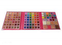 Girlishh Soft Pigmented 111 Colour Matte Shimmer And Glitter Eyeshadow Palette (Pink)