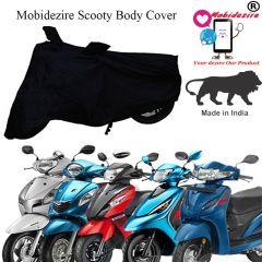 Mobidezire Scooty Body Cover For Hero Honda, Vespa, Tvs, Bajaj, Hero Electric, Yamaha, Kawasaki (Black) (Pack of 1)