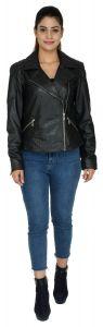 ASPENLEATHER Genuine Leather Jackets For Women - Long Sleeve Casual Classic Women's Stylish Multi-Pocket Jacket For Travel Outwear Warm Winter