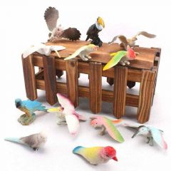 Different Birds Toy Set, Plastic Material, Developmental Toys (Pack Of 12)