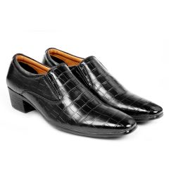 Bxxy's Men New Arrival Height Increasing Faux Leather Material Casual Crocodile style, Loafer and Moccasins Shoes
