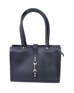 Celtic Buff Crazy Leather Shoulder Bag (Black) | Pack of 1