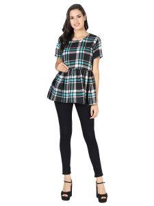 Jazbay Stylish & Fashionable Sleeves Round Neck Casual Tops (Umbrella Style) For Women