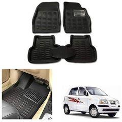 After Cars Black Carpet Floor/Foot 4D, Mats,for Hyundai Santro Xing GLS