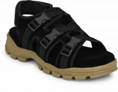 Men Stylish with Perfect & Regular Fit Black Sandal (Pack of 1)