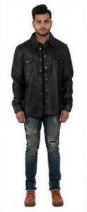 Aspenleather Franchise Club Black Leather Jacket