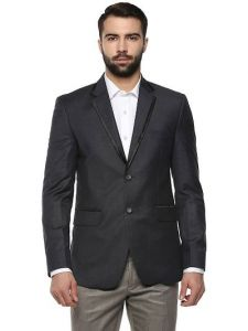Comfort and Stylish Long Sleeve Polyviscose Blazer For Men's (Dark Grey) (Pack of 1)