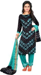 Women's Pure Woven Cotton Wool Blend Self Design Printed Unstitched Salwar Suit Material (Pack of 1)