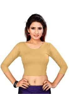 Stretchable Readymade Cotton Lycra Fabric 3|4 Sleeves Blouse for Womens