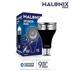 Halonix B22 LED Bluetooth Speaker 9-Watt Bulb ( White and Yellow Light )