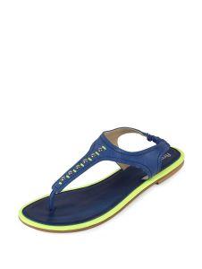 Sakhicollection Women's Synthetic Stylish Latest Flat Sandals (Blue)