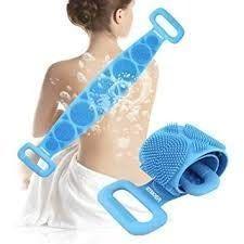 Silicone Body Scrubber|Bath Body Cleaning Belt|Skin Brush Belt|Exfoliating|Exfoliator Body Washable Scrubber|Scrubber Belt For Skin|Bathing|Body Dirt Removal For Kids Mens & Women