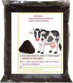 One Mall Cow Dung Organic Soil Manure Manure, Fertilizer, Soil Manure, Soil Powder (1 KG) (Pack of 1)