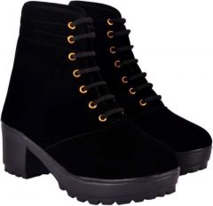 Chitransh Comfortable and Fashionable Long Stylish Boots Shoes for Women's & Girls (Black)