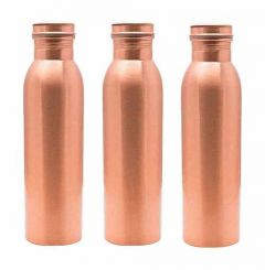 Copper Seamless 1 Liter Bottle silicone washer to give you a long and leak proof use (Color: Bronze) (Pack of 3 Piece)
