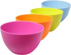 SLCE High-Quality Plastic Mixing Bowl Set For Kitchen (Multi-Color) (Pack of 4)