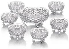 Boxerdoll It Gives Style to Your Kitchen & Dining Table Glass Serving Bowl (Pack of 7)