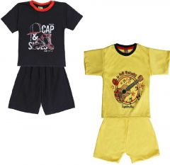 SHAURYA INNOVATION Cotton Printed T-Shirt and Pant Set For Boy's (Combo Pack)