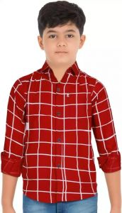 Aidhan Paul Comfortable& Regular Fit Checkered Casual Shirt For Boy's (Pack of 1)