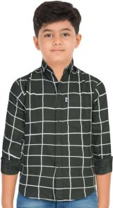 Aidhan Paul Comfortable, Fashionable & Regular Fit Checkered Casual Shirt For Boy's (Pack of 1)