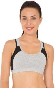 JOCKEY Cotton Lycra Blend Sports Non-Padded Bra For Women's (Grey) (Pack of 1)