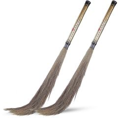 Floor Long Handle Indian Locking System Broom Sticks With Soft Natural Grass For Home & Kitchen (Pack of 2)