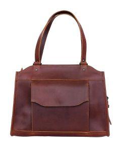 Celtic Buff Crazy Leather Shoulder Bag (Brown) | Pack of 1