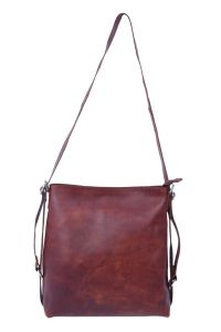 Celtic Buff Crazy Leather Convertible Two in One Satchel Bag (Brown) | Pack of 1