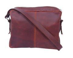 Celtic Buff Crazy Leather Compact Shoulder Satchel Bag (Brown) | Pack of 1