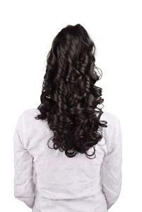 Homeoculture Natural Brown Hair Extension With Plastic Clutcher (24 Inches)