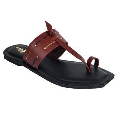 Sakhicollection Casual/Fashionable Flat Heels Kolhapuri Comfort Slippers for Women