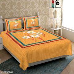 VINODTRADERS Graceful Alluring Stylish Cottion Bedsheets | Pack of 1