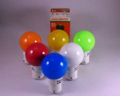 Halonix 0.5 W Multicolor Standard LED Bulb (Pack of 1)