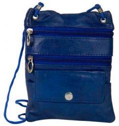 ASPENLEATHER Dark Blue Genuine Leather Cross Body Bag