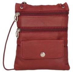 ASPENLEATHER Maroon Genuine Leather Cross Body Bag