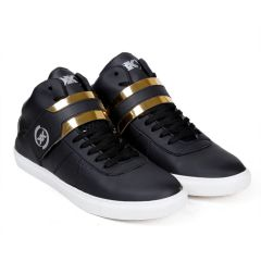 BXXY Mens Faux Leather Casual with Strap lace-up Boots