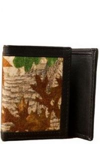 ASPENLEATHER Genuine Canvas Leather Wallet For Men (Green)