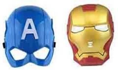 PTCMART Captain America And iron Man Shape Combo Face Mask For Kids Party Mask  (Multicolor, Pack of 2)