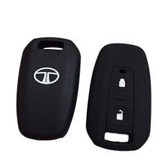 Mand High-Quality Silicone Car Key Cover Compatible For Tata Manza/Vista/Indigo (Black) (Pack of 1)